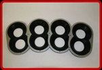 "Seals-It Velocity Stack Seals - 2.0""-2.625"""